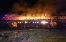 Pożar budynek gospodarczy